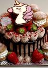 ドリップチョコレートケーキ