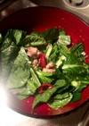 小松菜とさばのサラダ
