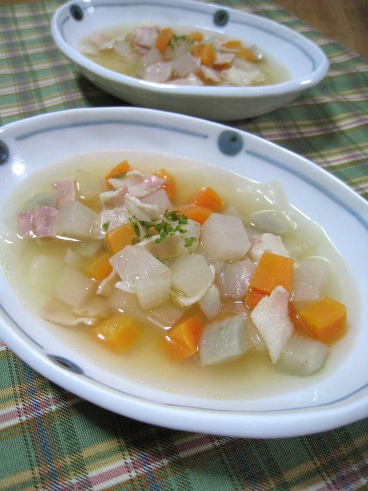 ★和ふぅ~野菜のコロコロコンソメスープ★