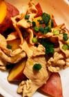 お吸物の素で!豚肉と薩摩芋の簡単煮