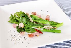 レンジで簡単!菜の花のペペロンチーノ