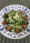 水菜と大根のサラダ♪梅ドレッシング