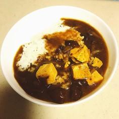 豆腐となめこの味噌汁deリメイクカレー