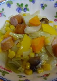 キャベツとパプリカの野菜スープ
