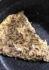 パスタオムレツを糖質0麺で。