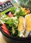 お弁当にキャベツとレタスの巻き巻きサラダ