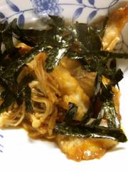グレとキノコの中華風炒めの写真