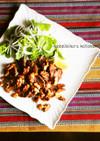 塩麹ラム肉と食感を楽しむクルミのソテー