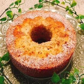 シフォン型で紅茶とりんごのパウンドケーキ