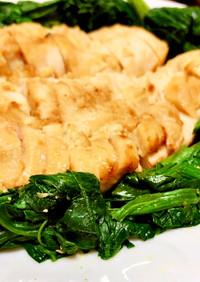 簡単!やわらかい鶏胸肉の味噌マヨ漬け焼き