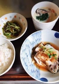 介護食 献立鯖のお湯煮