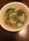 ザーサイとエノキのスープ