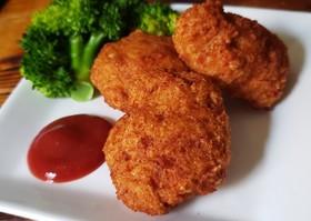 鶏ひき肉と唐揚げ粉で♪簡単旨ナゲット★