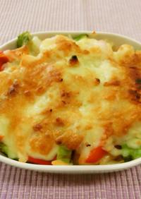 えびアボカドのチーズ焼き