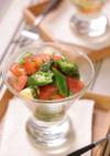 トマトとオクラの和風カプレーゼ風サラダ