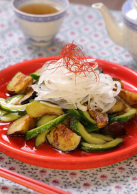 なすときゅうりの簡単☆中華サラダ