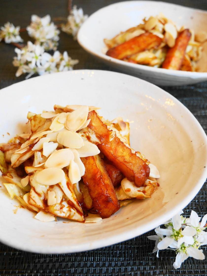 キャベツと野菜揚げの甜面醤炒め