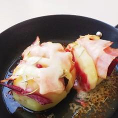 赤ビーツとベーコンのセミトルネードポテト
