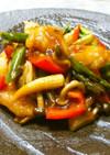 ◆白身魚と彩り野菜のオイスターソース炒め