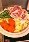 春野菜たっぷり!塩麹漬け豚バラと蒸し野菜