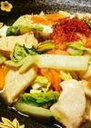 鶏と白菜のニンニクポン酢炒め
