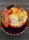 秋野菜のトマト釜グラタン