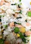 鮭と菜の花のバター醤油ごはん