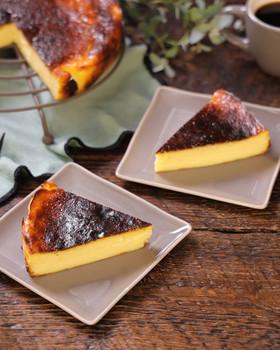 水切りヨーグルトで☆バスク風チーズケーキ