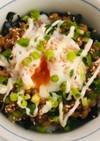 時短で簡単☆韓国のりと温玉の納豆丼
