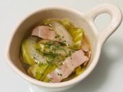 ヘルシー野菜とベーコンのコンソメスープの写真