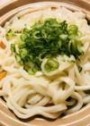 鶏肉と竹輪の野菜鍋●うどんをのせて