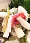 新物茎ワカメと短冊長芋の梅肉和え