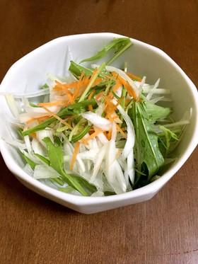 簡単 水菜と細切り野菜サラダ