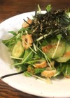 モリモリ食べる♡水菜のごまポン酢サラダ