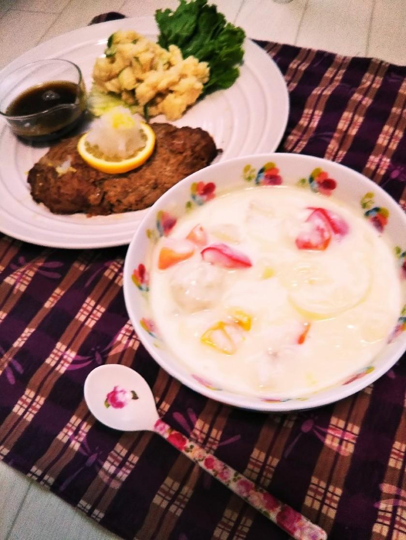 レンジで簡単★鶏団子のクリームシチュー