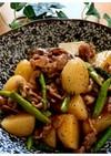 じゃが芋と牛肉とアスパラのうま煮