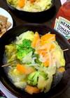 キャベツ大量消費コンソメスープ