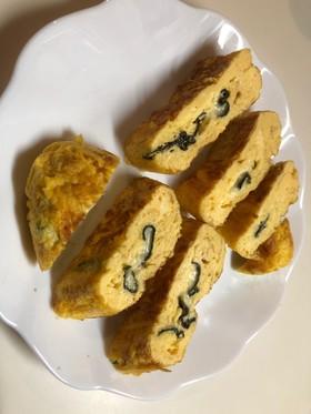 メレンゲで焼海苔チーズマヨふわふわ卵焼き