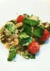 イタリアンパセリのサバ水煮缶サラダ