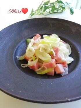 レンジで簡単☆長葱とベーコンのおつまみ