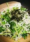 シンプル●水菜とシラスのササッと炒め