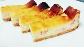 フレッシュ苺のベイクドチーズケーキ