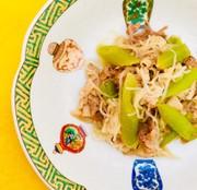 フキと豚バラ しらたきのあっさり生姜炒めの写真