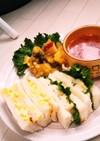 きゅうり入りタラモサラダのサンドイッチ