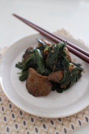【鉄分補給に!】鶏レバーのコチュマヨ炒めの写真