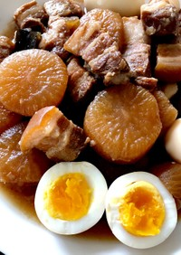 圧力鍋で簡単♪豚バラと大根の煮物
