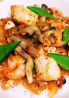 冷凍シーフードで!海鮮キムチ卵丼