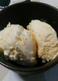 材料シンプル、味は本格アイスクリーム♪