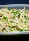 もやしときゅうりと新玉ねぎのサバ缶サラダ