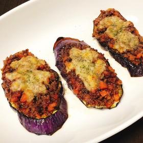 茄子とひき肉のチーズ焼き